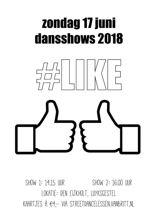 Poster dansshows 2018